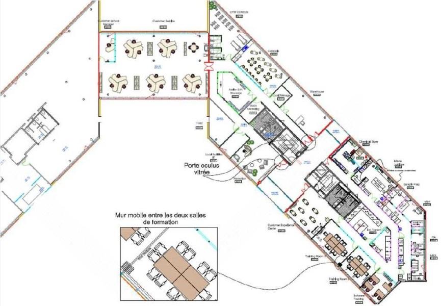 Bureaux à louer à ST AUBIN 91190 - ESPACE TECHNOLOGIQUE - DISCOVERY plan d'étage 1