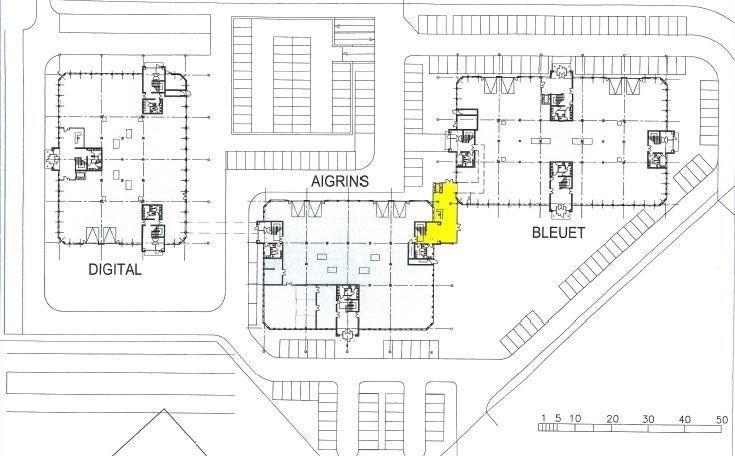 Bureaux à louer à VILLEBON SUR YVETTE 91140 - CAMPUS LES AIGRINS - BLEUETS - DIGITALE plan d'étage 1