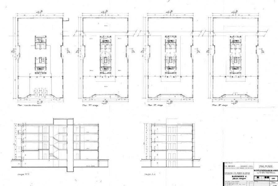 Bureaux à louer à MASSY 91300 - LES BUREAUX DU PARC - BATIMENT C plan d'étage 1