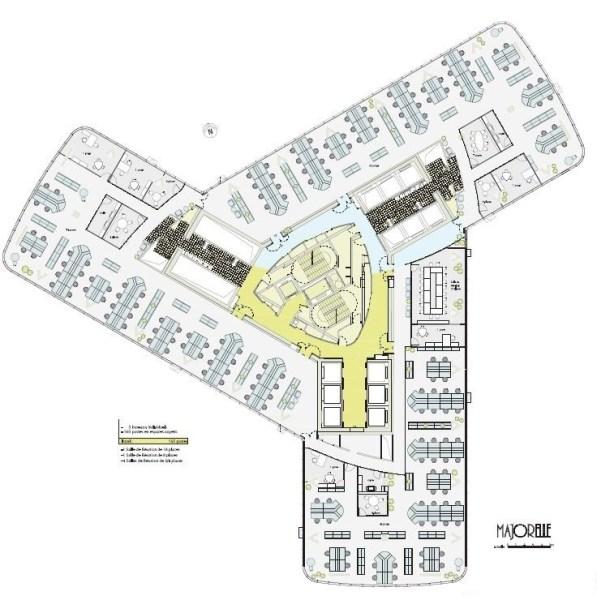 Bureaux louer tour first 92400 courbevoie 15835 jll for Immeuble bureau plan