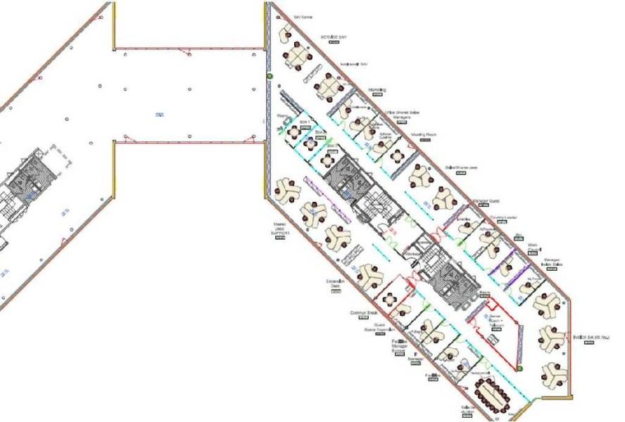 Bureaux à louer à ST AUBIN 91190 - ESPACE TECHNOLOGIQUE - DISCOVERY plan d'étage 2