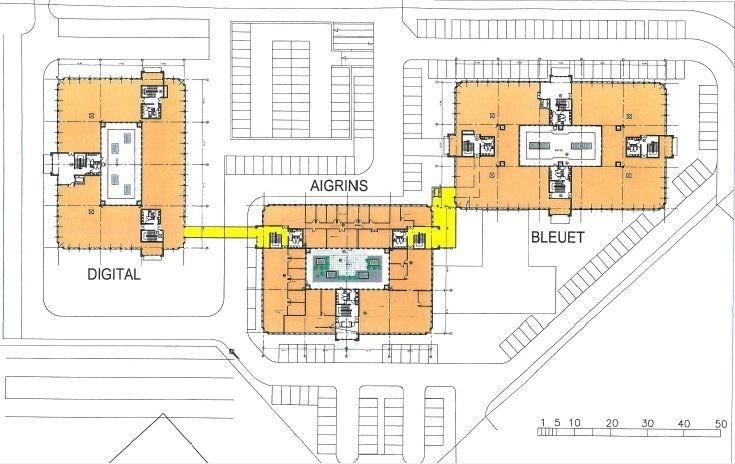 Bureaux à louer à VILLEBON SUR YVETTE 91140 - CAMPUS LES AIGRINS - BLEUETS - DIGITALE plan d'étage 2