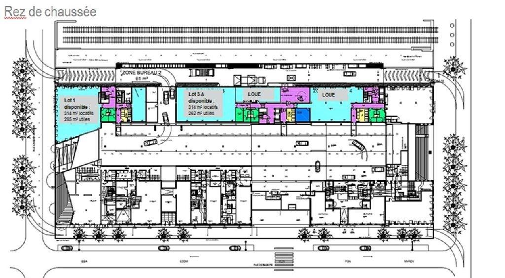 Bureaux à louer à LYON 69002 - MONOLITHE plan d'étage 1