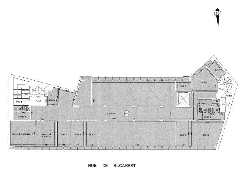 Bureaux à louer à PARIS 75008 - 7-13 RUE DE BUCAREST plan d'étage 2