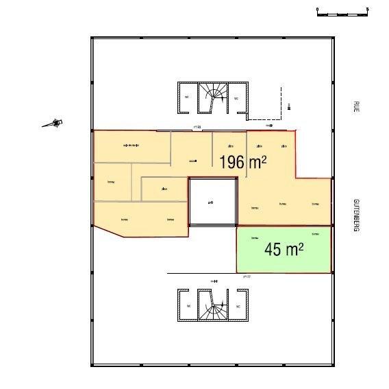 Bureaux à louer à PALAISEAU 91120 - 2BIS RUE LEON BLUM plan d'étage 1