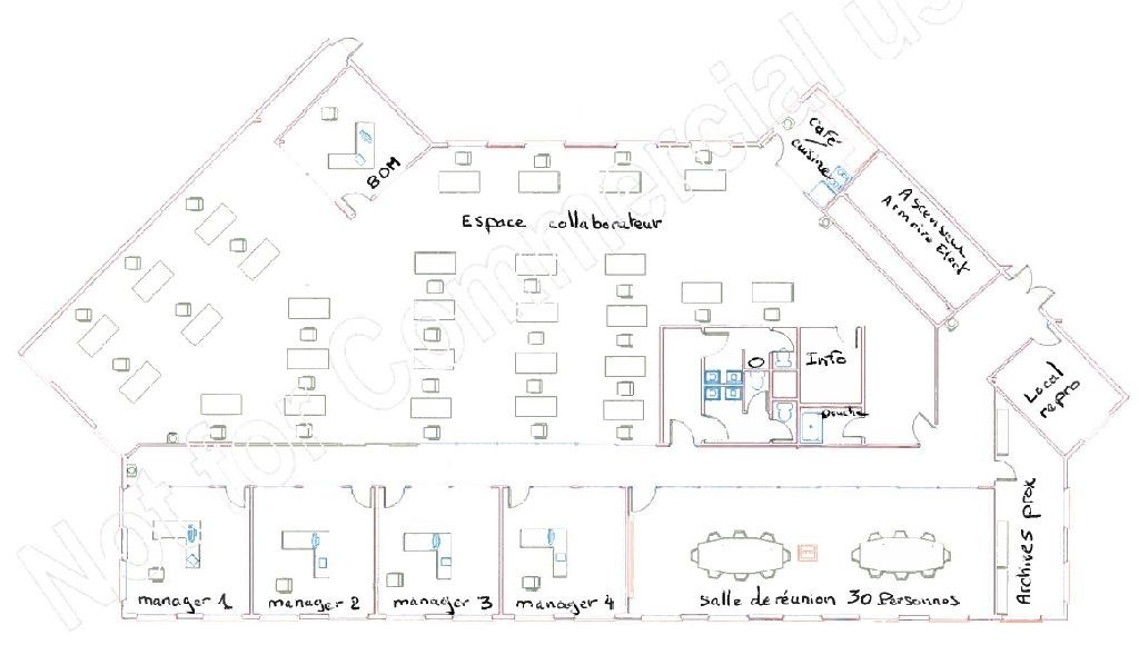 Bureaux à louer à ST AUBIN 91190 - ESPACE TECHNOLOGIQUE - MERCURY II plan d'étage 2