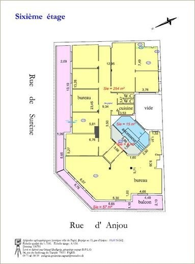 Bureaux vendre 18bis rue d 39 anjou 75008 paris 22818 jll for Bureau de poste 13 rue d anjou