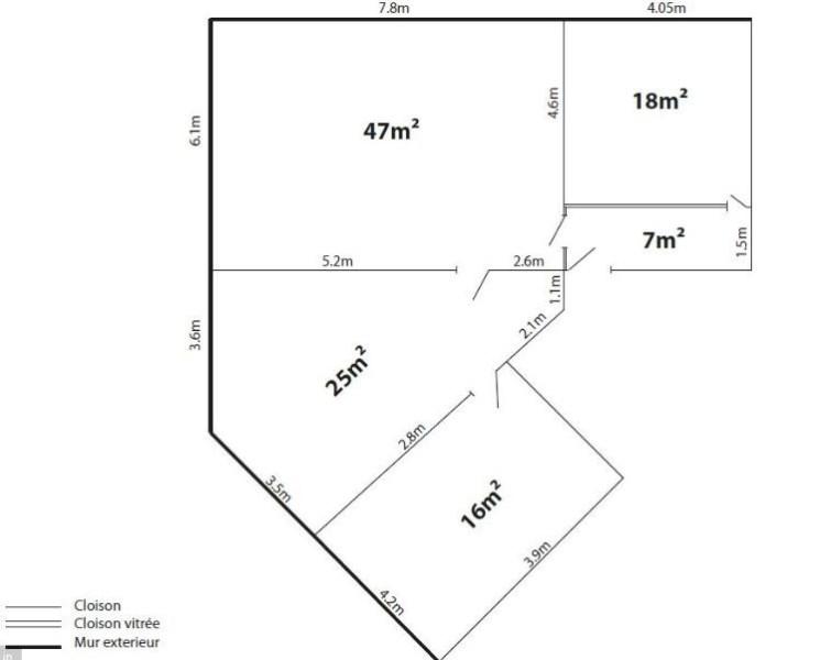 Bureaux à vendre à PALAISEAU 91120 - PARC GUTENBERG - BAT B plan d'étage 1