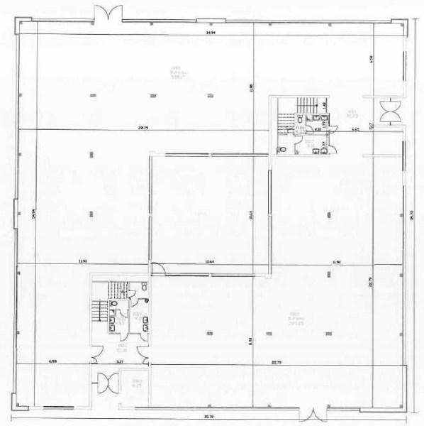 Bureaux à louer à BIEVRES 91570 - PARC BUROSPACE plan d'étage 1