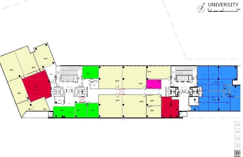Bureaux à louer à MASSY 91300 - CARNOT PLAZA plan d'étage 1