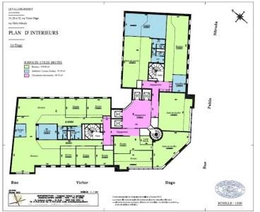 Bureaux à louer à LEVALLOIS PERRET 92300 - LE VICTOR HUGO plan d'étage 1
