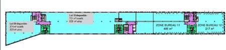 Bureaux à louer à LYON 69002 - MONOLITHE plan d'étage 2
