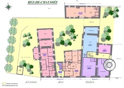 Bureaux à vendre à LES ULIS 91940 - LA FERME DE COURTABOEUF plan d'étage 1