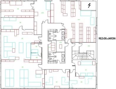 Bureaux à louer à LES ULIS 91940 - CLUB plan d'étage 1