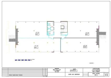 Bureaux à louer à ORSAY 91400 - CITYPARC DE LA GARE D'ORSAY - SISLEY plan d'étage 2