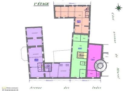 Bureaux à vendre à LES ULIS 91940 - LA FERME DE COURTABOEUF plan d'étage 2