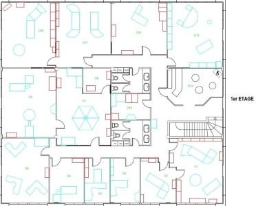 Bureaux à louer à LES ULIS 91940 - CLUB plan d'étage 2