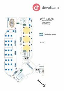 Bureaux à louer à MASSY 91300 - LES BUREAUX DU PARC - BATIMENT A plan d'étage 1