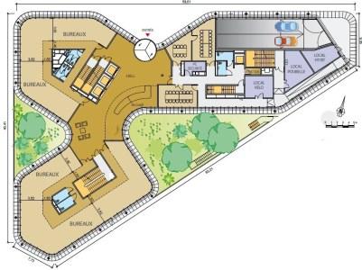 Bureaux à louer à MASSY 91300 - BRIO plan d'étage 1