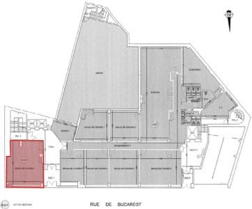 Bureaux à louer à PARIS 75008 - 7-13 RUE DE BUCAREST plan d'étage 1
