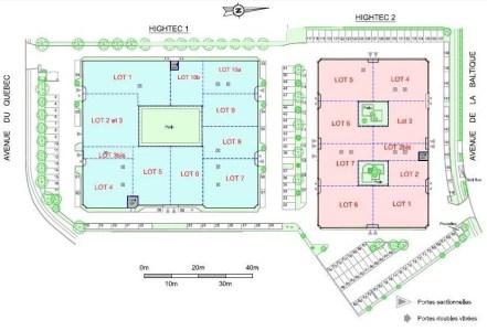 Bureaux à louer à VILLEBON SUR YVETTE 91140 - HIGHTEC 1 et 2 plan d'étage 1