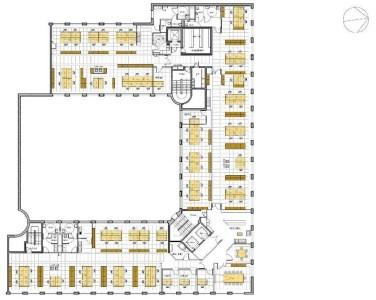 Bureaux à louer à BOULOGNE BILLANCOURT 92100 - LE MAIL DU POINT DU JOUR plan d'étage 1