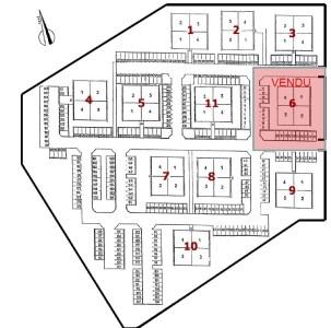 Bureaux à louer à LES ULIS 91940 - MINI PARC DES ANDES plan d'étage 1