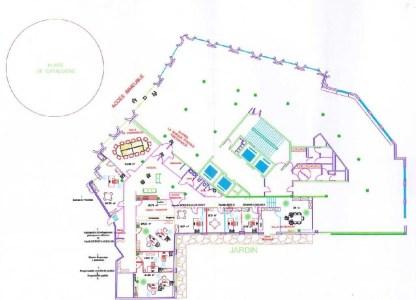 Bureaux à louer à PARIS 75014 - 10-18 PLACE DE CATALOGNE plan d'étage 1