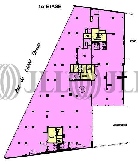 Bureaux Paris, 75015 - 127-131 RUE DE L'ABBE GROULT - 9461347