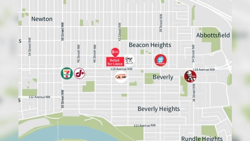 Beacon Heights Shopping Centre: 43 Street & 118 Avenue, Edmonton, AB - Retail - Lease