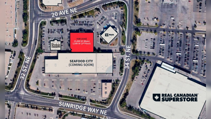 Former Winners at Sunridge (3351 20 Avenue NE, Calgary, AB) - Retail - Lease
