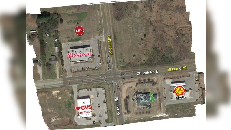 Walgreens 11890B - CHURCH RD E - Southaven, MS - Land - Sale
