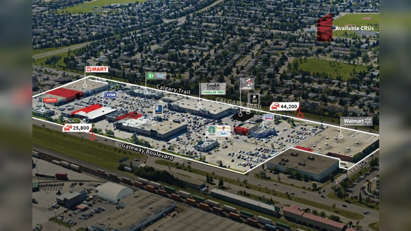 South Park Centre: 3803 Calgary Trail NW - Retail - Lease