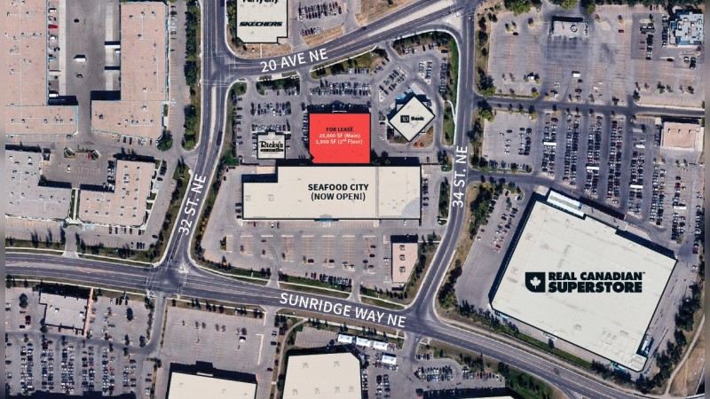 Sunridge Gate - Large Format Retail (3351 20 Avenue NE, Calgary, AB) - Retail - Lease