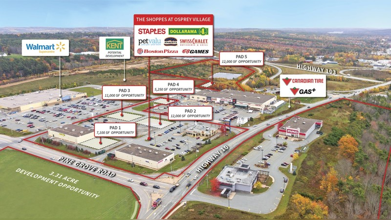 For Sale: The Shoppes of Osprey Village, Bridgewater - Retail - Sale