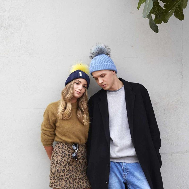 Mens and womens knitted beannie hats