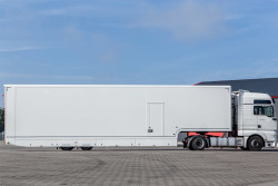new race trailer with office and double deck