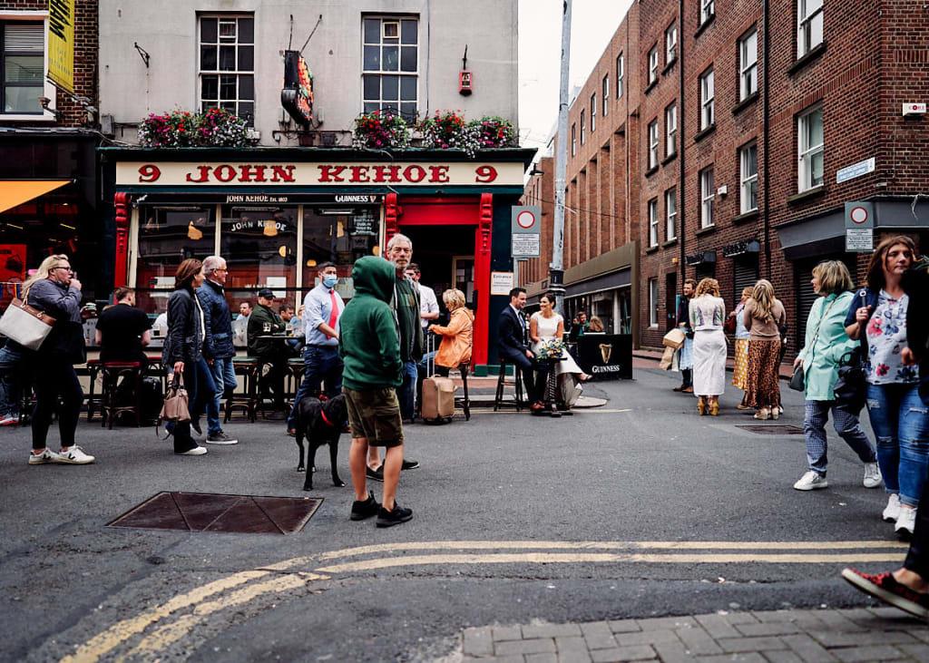 Couple Portrait - THE WESTBURY HOTEL WEDDING // DUBLIN // NICOLA & ANDY