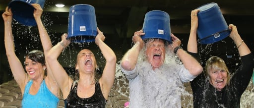 The ALS Ice Bucket Challenge. Credit: CNN