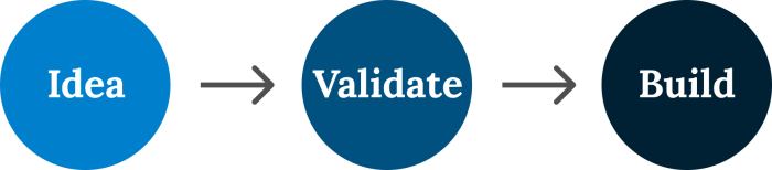 Idea -> Validate -> Build