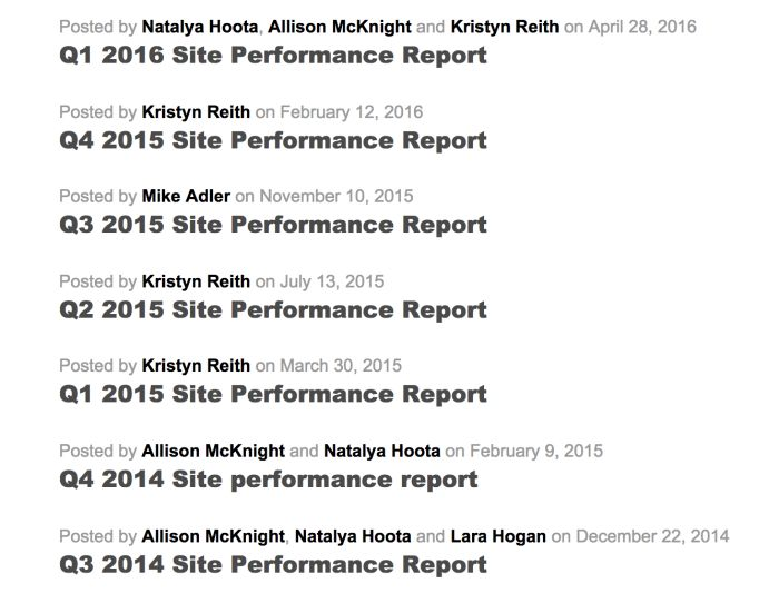 Site performance reports on Etsy's blog.