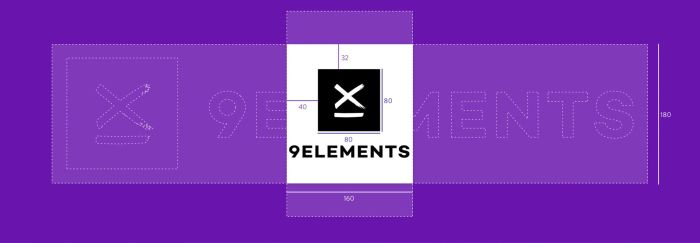 Responsive logo for 9elements