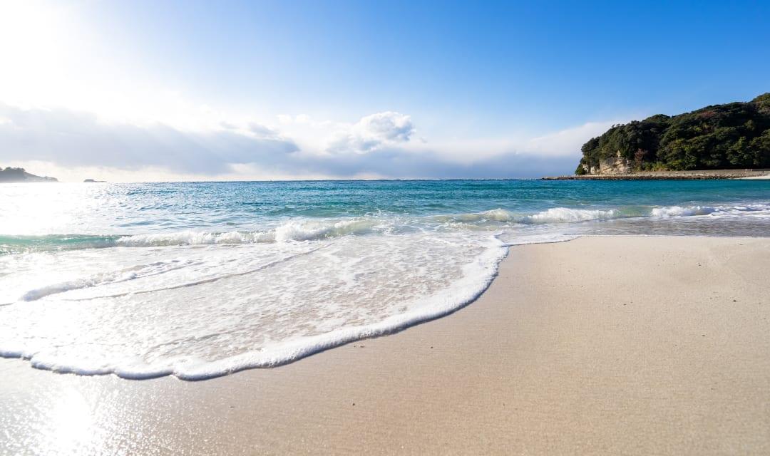 beautiful beach near Tokyo Japan