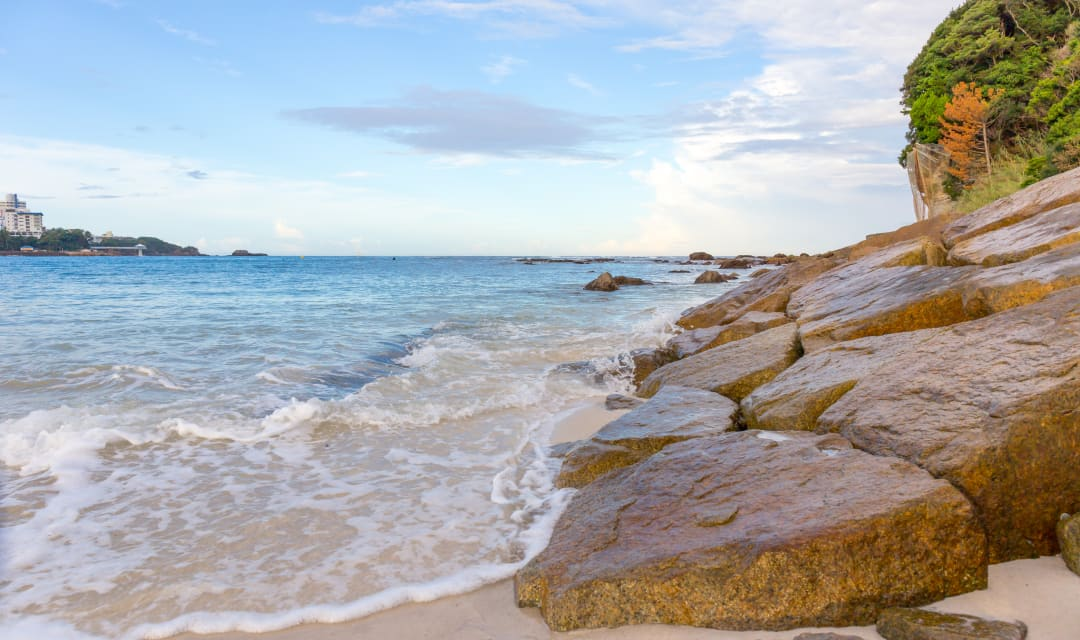 clear blue Shirahama beach on Kii Peninsula