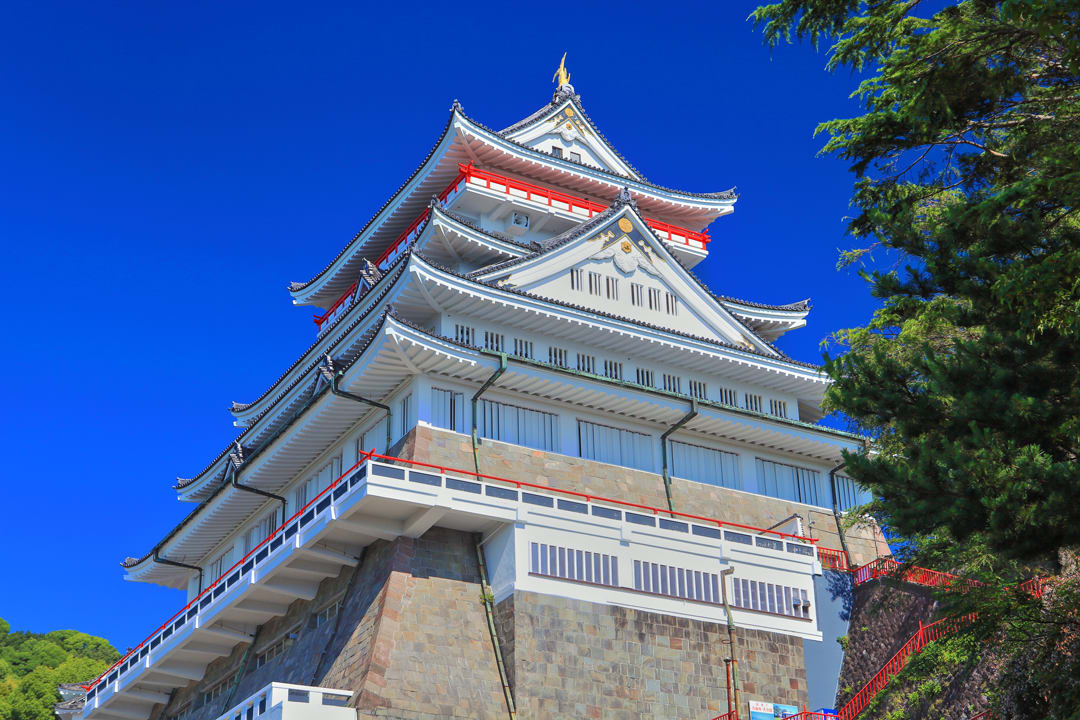 Atami Castle perches on a hilltop