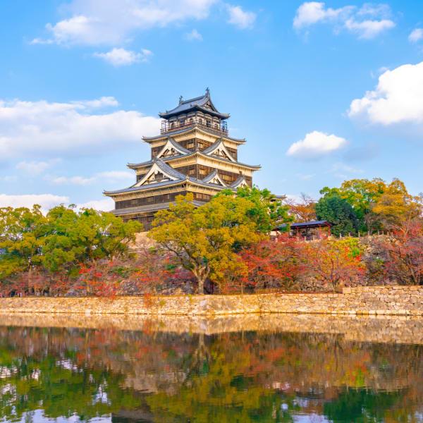 Castello delle carpe a Hiroshima