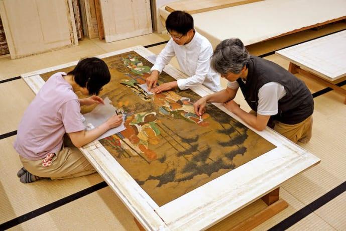 Gohyakurakanzu (Tofukuji collection) restoration