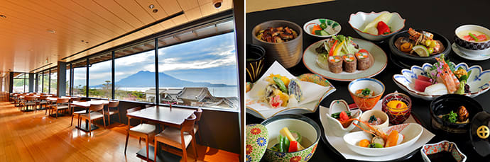 Savor delicious local food and enjoy the spectacular view. Photo credit: Shimadzu Limited