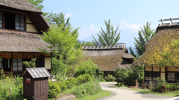 Explore a traditional Japanese landscape at Saiko Iyashi no Sato-Nenba