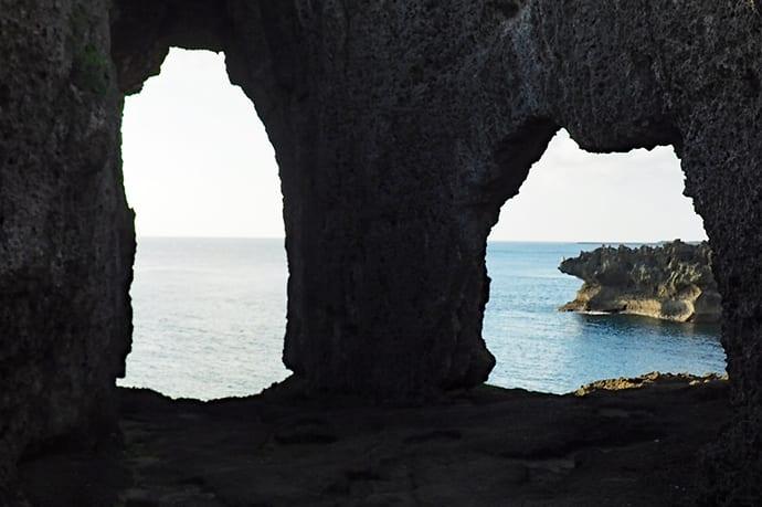 An unusual Ryukyu limestone formation at In no Jobuta